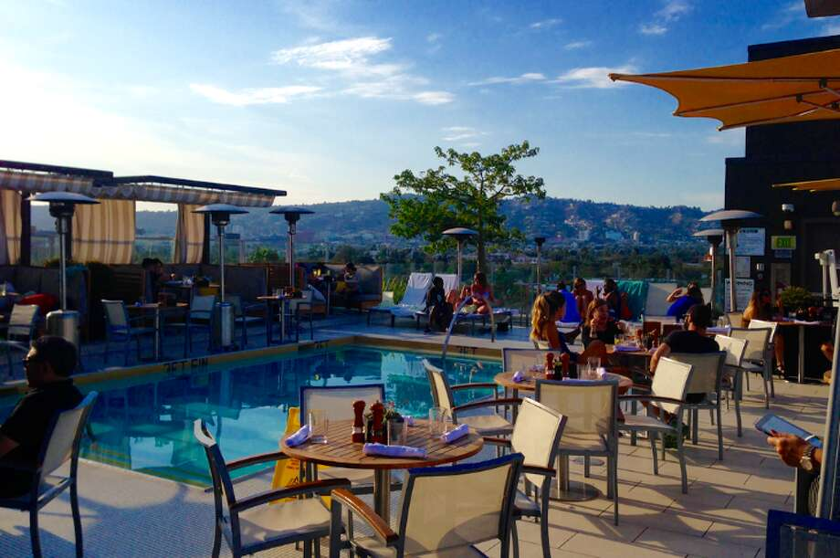 Pool deck at IHG's Kimpton Wilshire Hotel- a nice perch for summer stays