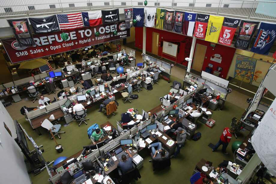 An office area inside Rackspace's headquarters. The company participates in CPS Energy's demand response program, and reduces power usage during peak times of demand. Photo: San Antonio Express-News File Photo / © 2014 San Antonio Express-News