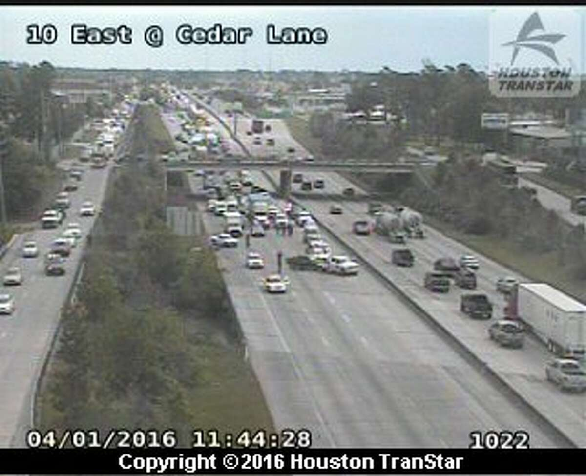 East Freeway was shut down Friday after police chase ended in East Houston.