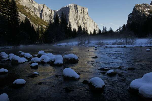The beauty of winter in Yosemite Valley, Calif. on Tuesday Jan. 8,  2013. Yosemite National Park announced today the release of two Wild and Scenic River comprehensive Management Plan Draft Environmental Impact Statements for the Merced River and the Tuolumne River for public review and comment.