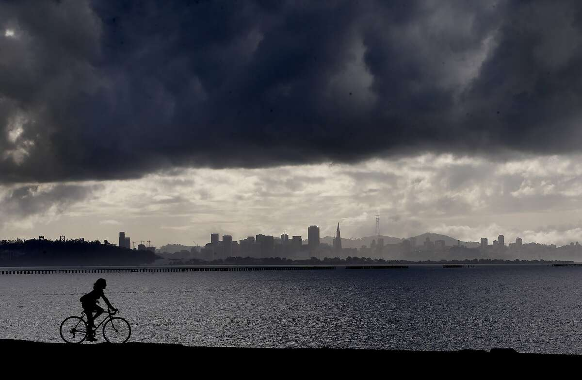 A break between storms as the Bay Area gets a short time to dry out before the next rain moves onshore as seen from Cesar Chavez Park in Berkeley, Calif. on Thursday Dec. 4, 2014.