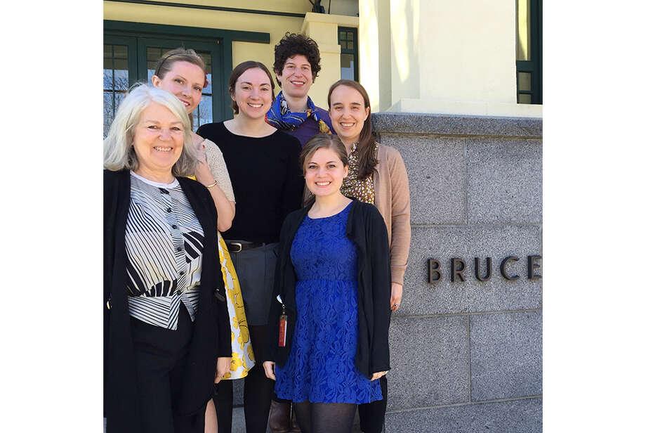 Bruce Museum educators (left to right) Susan Ball, Amanda Skehan, Laura Stricker, Corinne Flax, Mia Laufer, and Kathleen Holko.