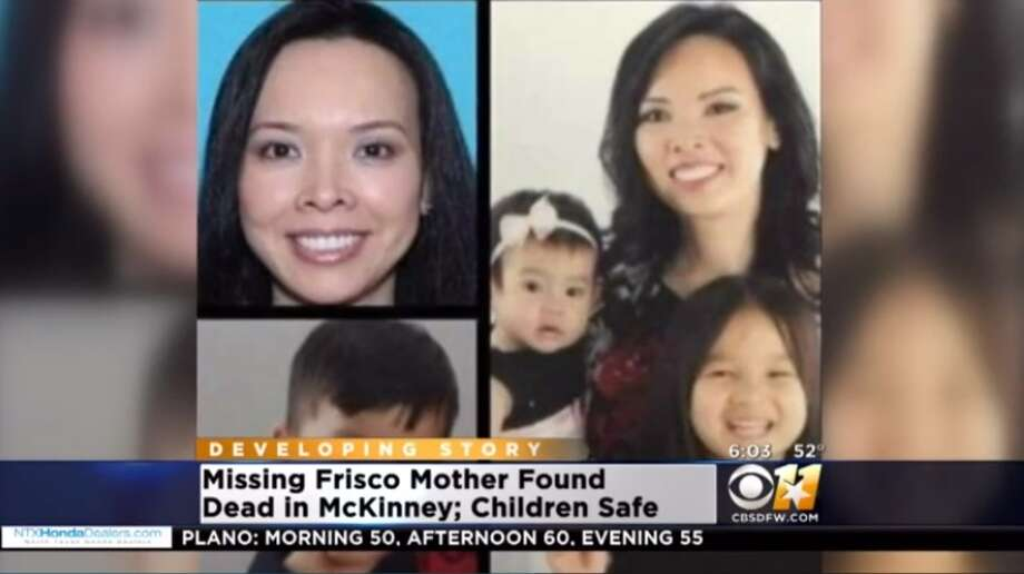 A Texas mother reported as missing with her children for three days has been found dead in her car with the three children alive beside her. Photo: CBSDFW 11 Screenshot