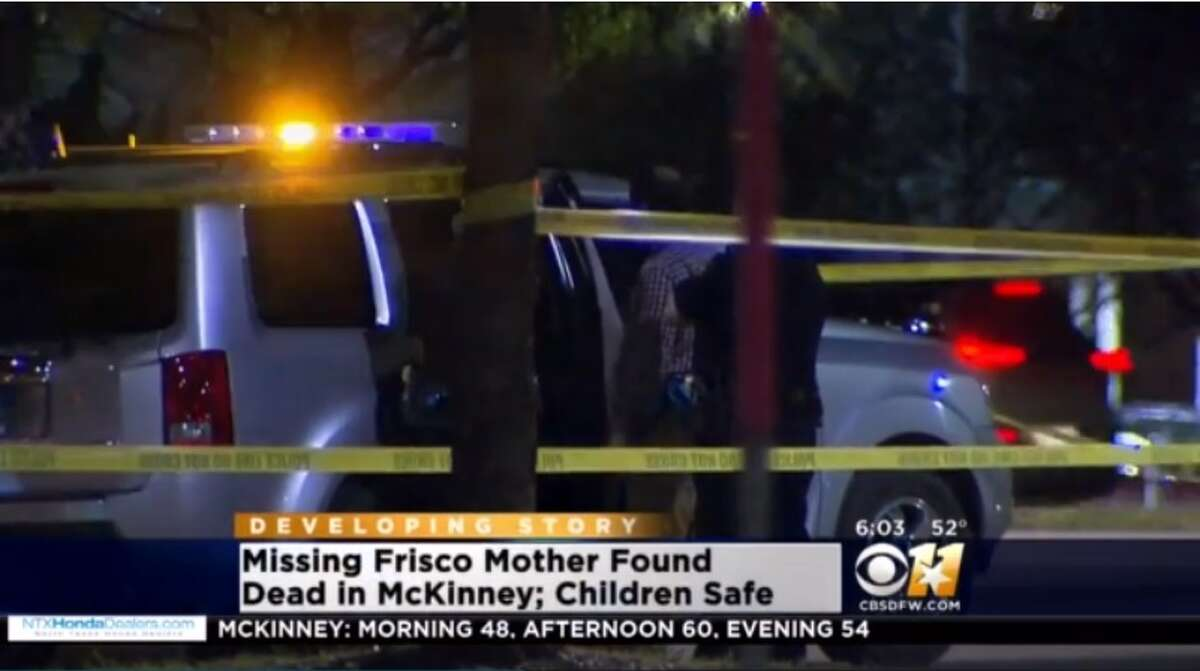 A Texas mother reported as missing with her children for three days has been found dead in her car with the three children alive beside her.