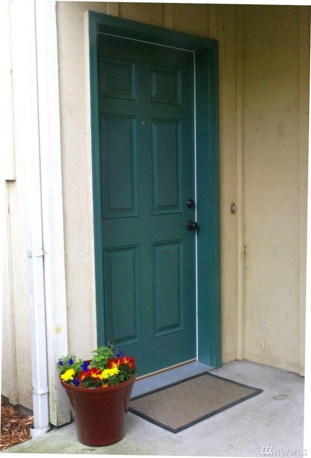 The front door of 2207 E. James St.