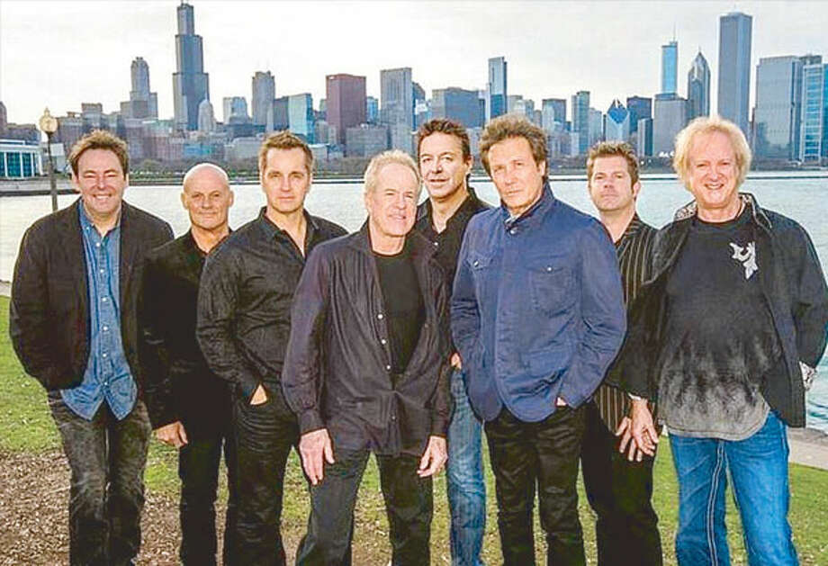 Chicago, above, will perform with Earth, Wind & Fire on Saturday, April 9, at Mohegan Sun Arena. The band will be inducted into the Rock and Roll Hall of Fame on Friday, April 8. Photo: Contributed Photo