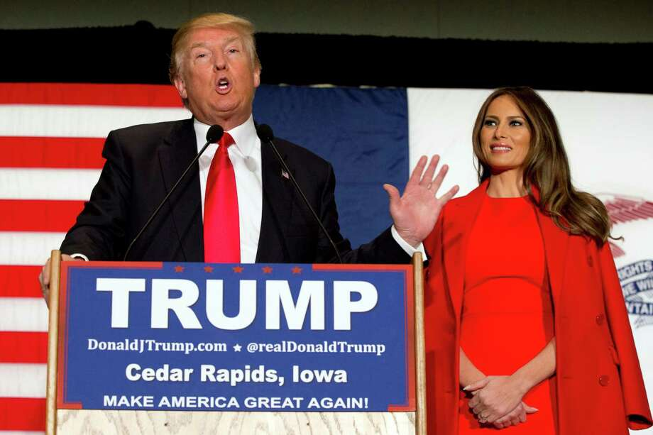 Republican presidential candidate Donald Trump, accompanied by his wife Melania Trump, speaks during a campaign event in Cedar Rapids, Iowa. on March 25. When Trump goes away will Trumpism change U.S. politics? Photo: Mary Altaffer /AP / AP