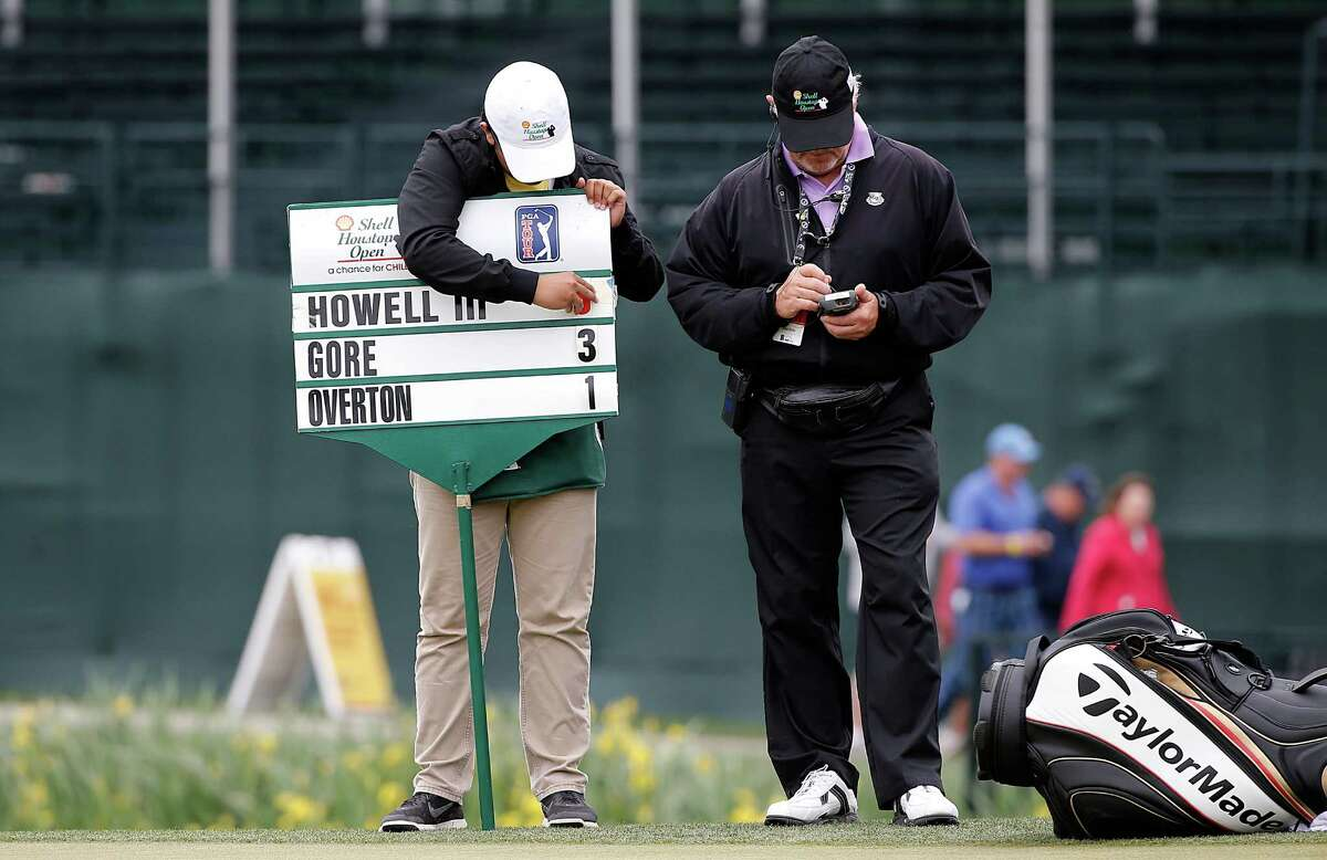 Charles Howell III score is changed from 8 under to 6 under after he finished his second round of the Shell Houston Open golf tournament at the Golf Club of Houston on , Friday, April 1, 2016, in Humble, Texas.