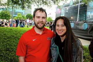 Fans at the March Madness Music Fest at Discovery Green. (For the Chronicle/Gary Fountain, April 1, 2016)