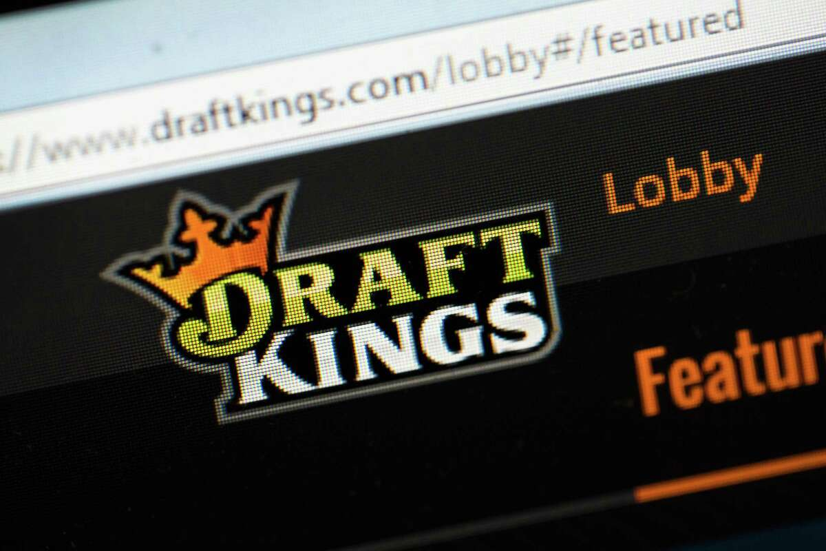 CHICAGO, IL - OCTOBER 16: The fantasy sports website DraftKings is shown on October 16, 2015 in Chicago, Illinois. DraftKings and its rival FanDuel have been under scrutiny after accusations surfaced of employees participating in the contests with insider information. An employee recently finished second in a contest on FanDuel, winning $350,000. Nevada recently banned the sites.