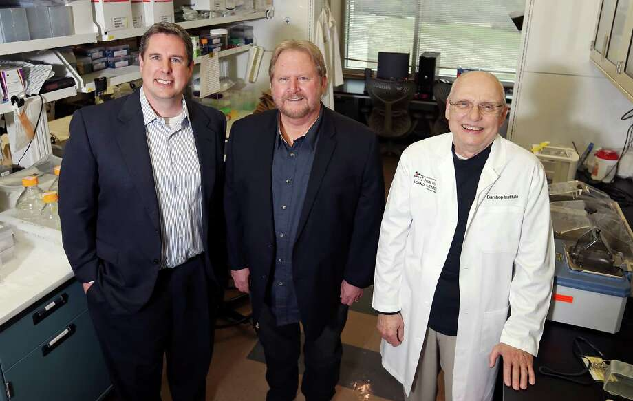 Rapamycin Holdings Inc., a privately held San Antonio company, is trying to commercialize an improved version of the drug rapamycin that is designed to be better absorbed by patients. The company licensed the technology from the University of Texas Health Science Center in San Antonio. Pictured (from left) are Rapamycin Holdings Chief Financial Officer Mark Horsey and Professors Randy Strong and Z. Dave Sharp. Strong helped design the drug so that it breaks down in a patient's intestines rather than the stomach. Photo: Edward A. Ornelas /San Antonio Express-News / © 2016 San Antonio Express-News
