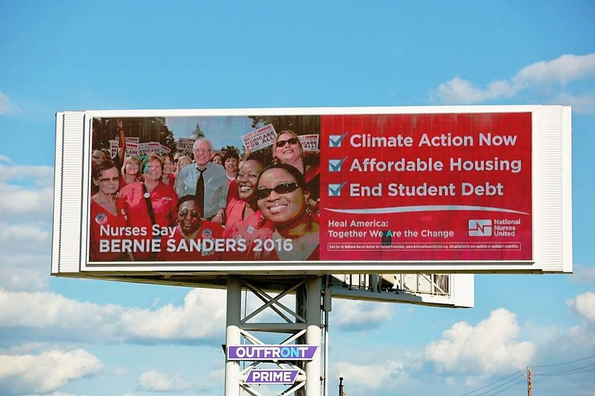 California Nurses Association is going all out for Bernie Sander's presidential campaign with a new billboard ad campaign in the Bay Area.