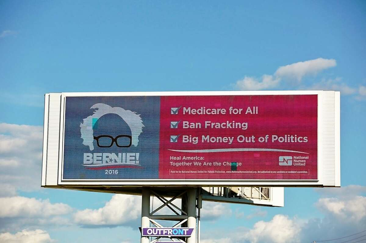 The California Nurses Association is going big time for Bernie Sanders in California with a new Bay Area billboard campaign