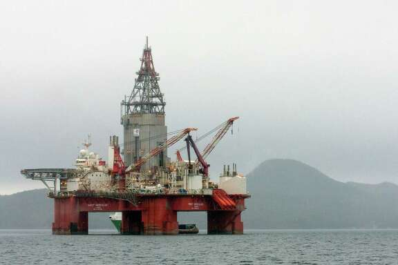 This drilling rig is in the Skaanevik fjord in western Norway. Norway is counting on the Barents Sea to become its next big oil area.