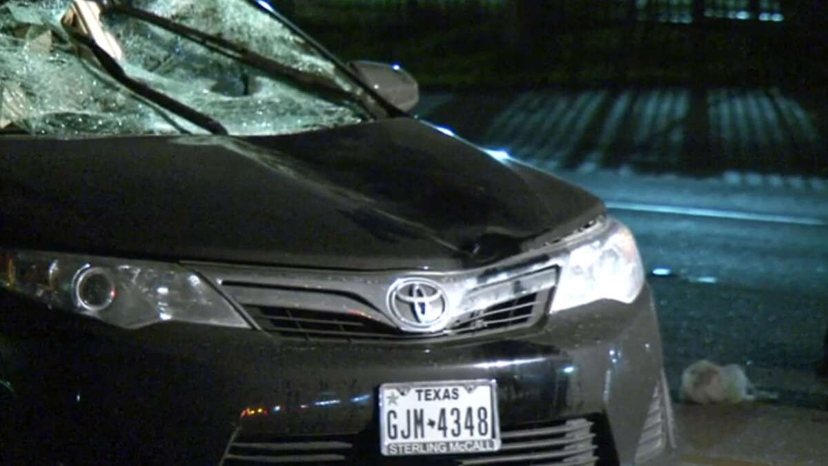 A male pedestrian was killed by a vehicle Friday night on a dimly lit northwest Harris County road.