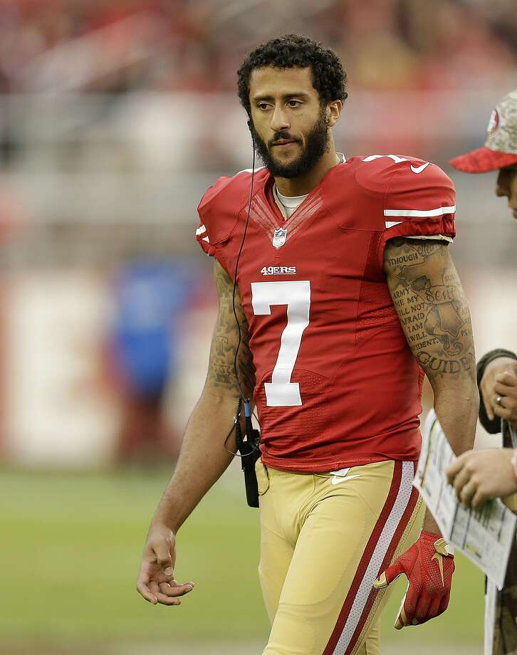 The Broncos have reportedly been working on restructuring Colin Kaepernick's contract. Photo: Ben Margot, AP