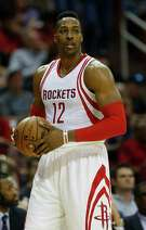 Houston Rockets center Dwight Howard (12) during the second half of an NBA basketball game at Toyota Center, Thursday, March 31, 2016, in Houston. ( Karen Warren / Houston Chronicle )