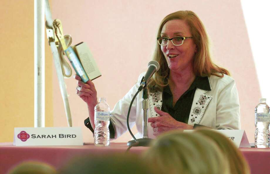 Author Sarah Bird, shown at the 2016 San Antonio Book Festival, turned down an invitation to be honored at a celebration of authors event sponsored by the Texas Legislature due to its record on women's health issues. Photo: Billy Calzada /San Antonio Express-News / San Antonio Express-News
