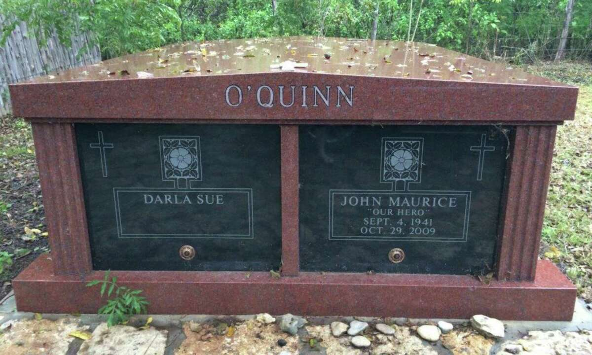 A lawsuit filed by Lexington says O'Quinn's body was wrongly moved from a mausoleum on his ranch in Wimberley to Louisiana. She contends she is O'Quinn's first next-of-kin as his common-law widow and that only she had the authority to deal with O'Quinn's remains. His cousin, Carol O'Quinn, disagrees.