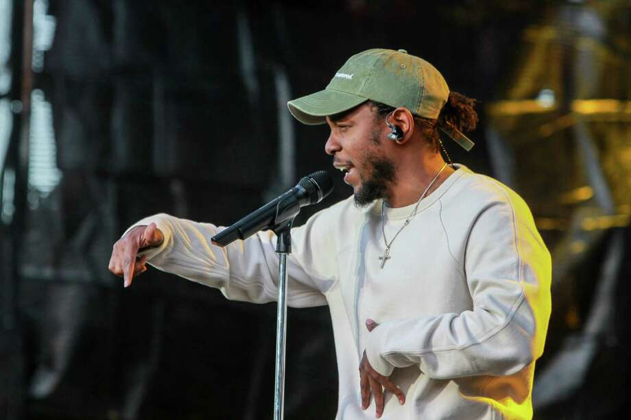 Kendrick Lamar's jazz-inflected performance seemed to shake the entire city during March Madness Music Fest at Discovery Green. His set was like a hip-hop master class, incorporating rock flourishes and audience participation. Photo: Gary Fountain, For The Chronicle / Copyright 2016 Gary Fountain