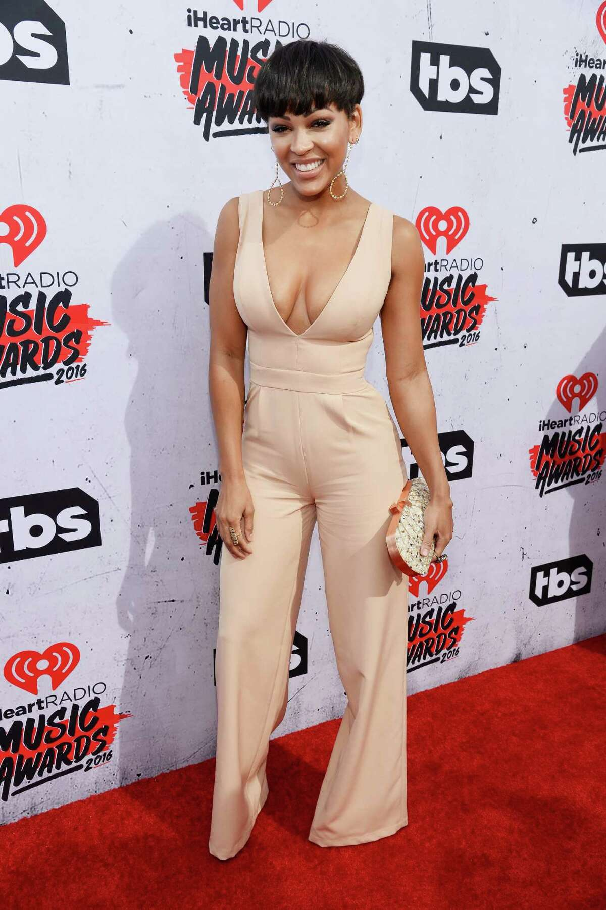 INGLEWOOD, CALIFORNIA - APRIL 03: Actress Meagan Good attends the iHeartRadio Music Awards at The Forum on April 3, 2016 in Inglewood, California.