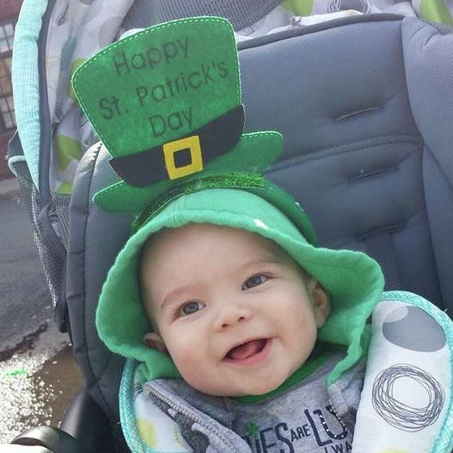 "Jessica St. John captures the moment that her nephew, Tino Diaz, enjoys his first St. Patrick?s Day during the Albay parade last month. ""He had a great time,"" St. John said. (Submitted photo)"