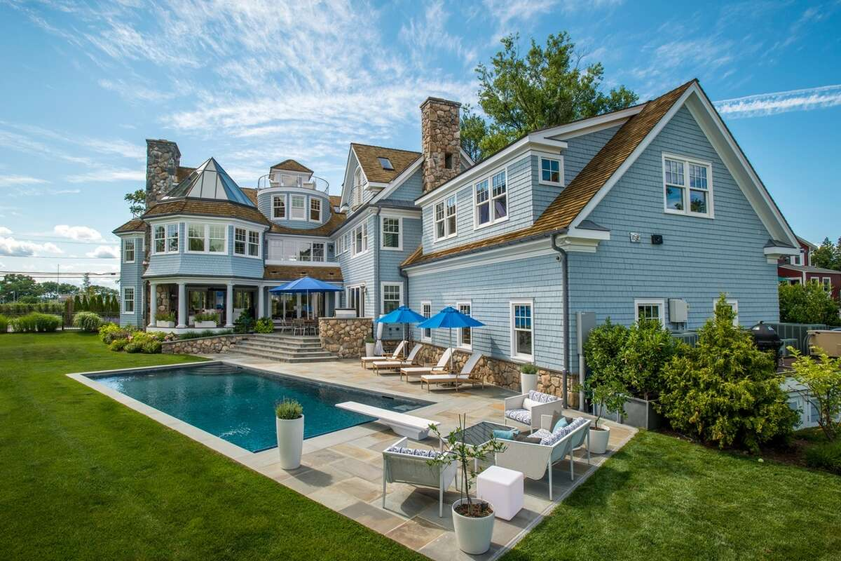 186 Shore Rd, Old Greenwich, CT 06870 6 beds 9 baths 8,803 sqft His/her separate baths adjoined by custom dressing rooms Other features: game room with fireplace and balcony; wet bar; and temperature-controlled 1,200 + bottle wine closetView full listing on Zillow