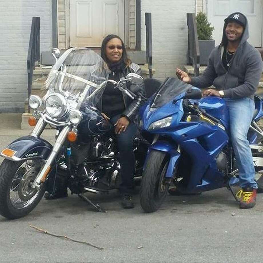 Alonzo A. Dawson and his mother smile in a photo on motorcycles. A motorcycle crash Wednesday, March 30, 2016, on Interstate 90 led to the death of Dawson, a 24-year-old man from Albany, State Police said. (Photo: Facebook)