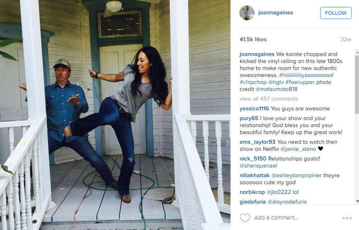 The name Magnolia Market was inspired by the blooms Chip used to pick off Magnolia trees for Joanna. Photo via Joanna Gaines on Instagram