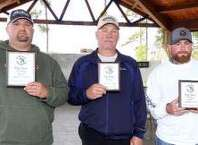Top 3 Big bass at Dr Sheltons-Josh Sowell, Russlell Sparks and Casey Brown courtesy photo