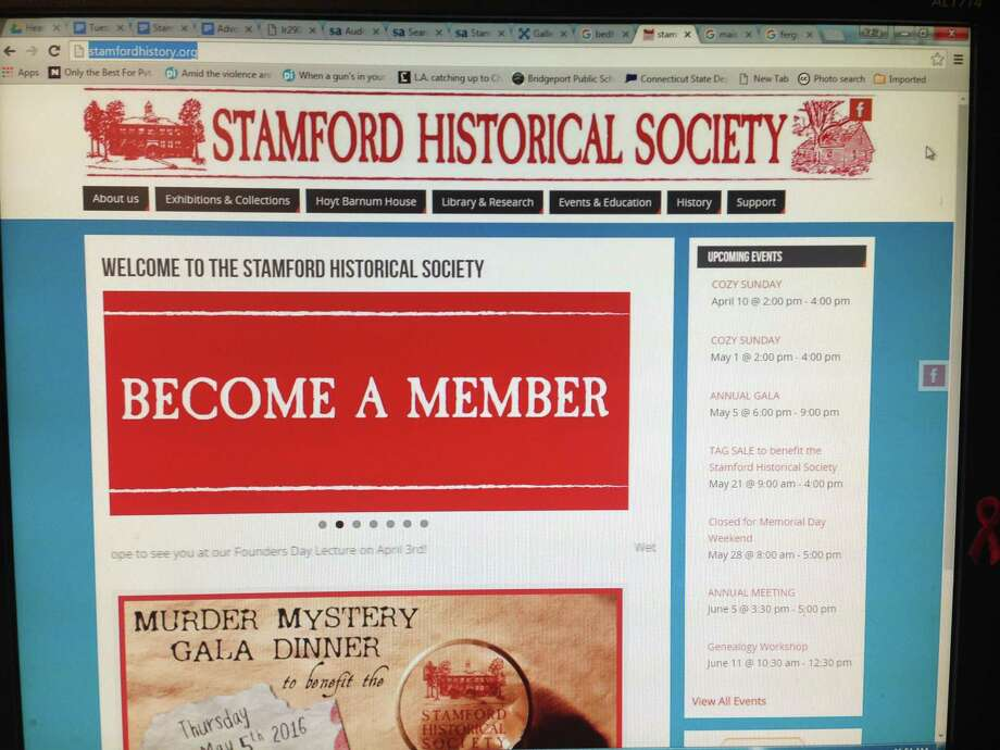 The Stamford Historical Society has updated its website. Photo: Keila Torres Ocasio