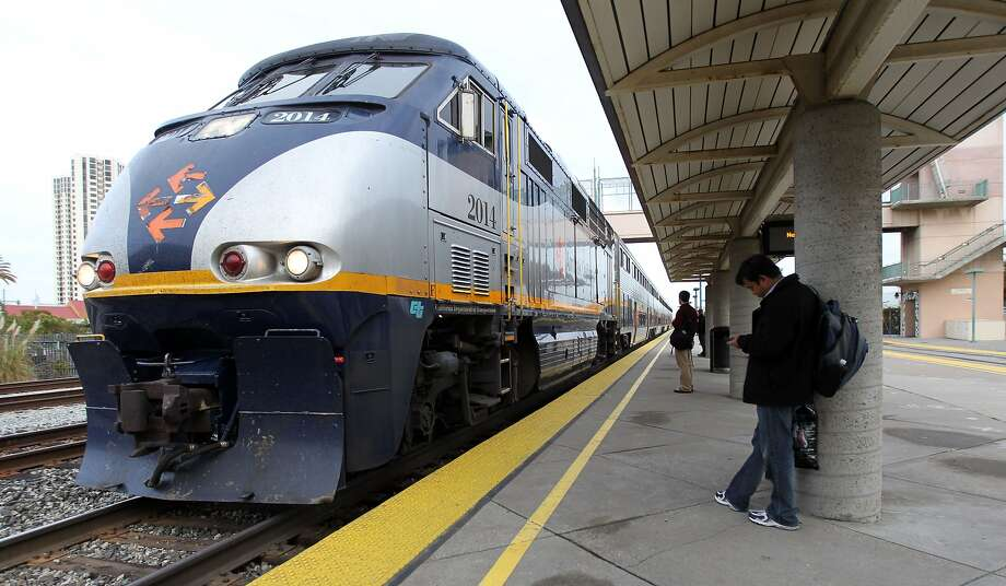 A man was killed Sunday night when he was clipped by an Amtrak train as he tried to cross the tracks in Hayward. Photo: Lance Iversen, The Chronicle