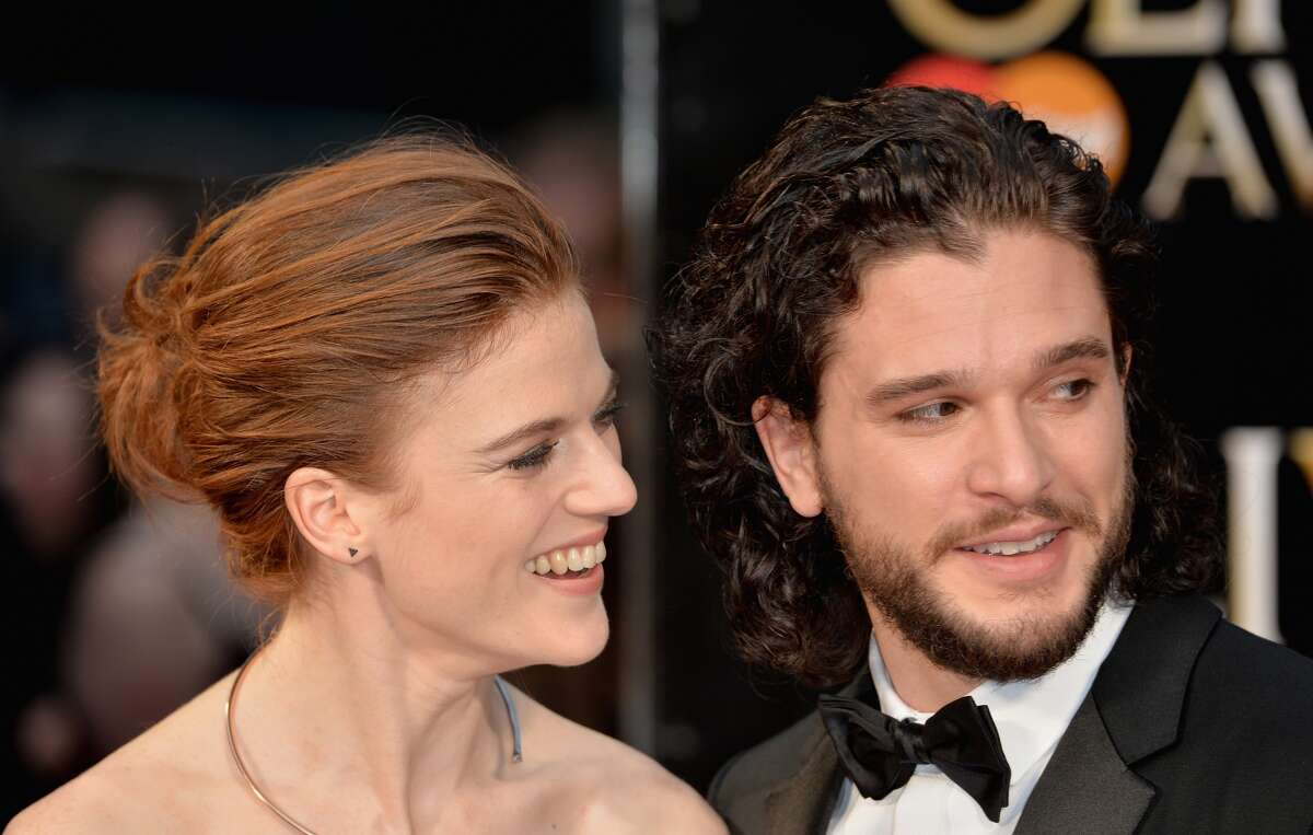 """Rose Leslie and Kit Harington are rumored to be engaged. Continue through the photos to see the """"Game of Thrones"""" characters in real life compared to their characters."""
