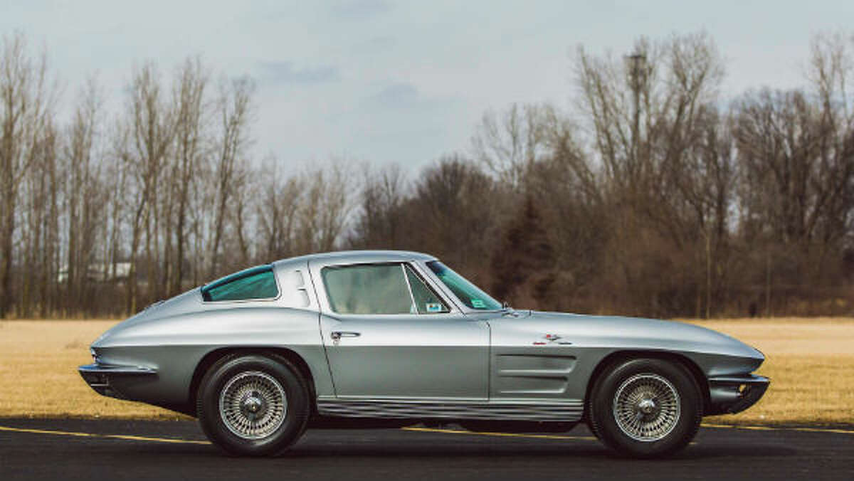 1963 Chevrolet Corvette Z06 Tanker (Lot S116) - This superb Z06 earned the industry's most-stringent judging accolades including Bloomington Gold certification, NCRS Top Flight and Chevy VetteFest Gold Spinner awards. The Sebring Silver example is one of 199 Z06 split-window coupes produced in 1963 and is factory-equipped with the RPO N03 36-gallon fuel tank, of which only 63 were built.
