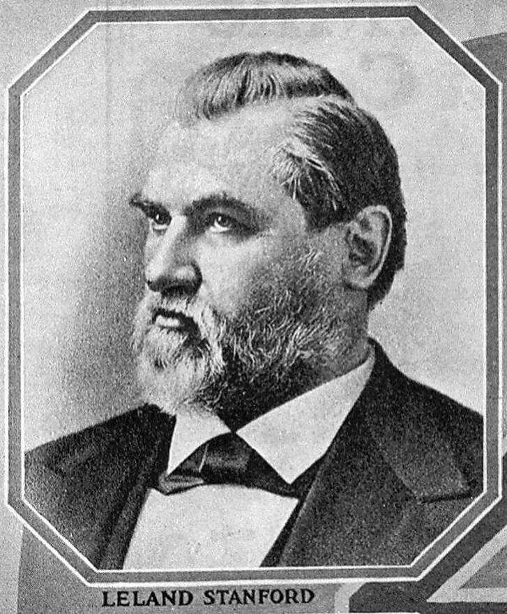 Leland Stanford, one of the builders of the 19th century's version of a high-speed rail system.      L. STANFORD/B/02JUL96/BU/HO Leland Stanford  California railroad baron.  also ran: 06/09/98.--- Sent 04/05/12 12:12:11 as letters06_hsr_PH3 with caption: