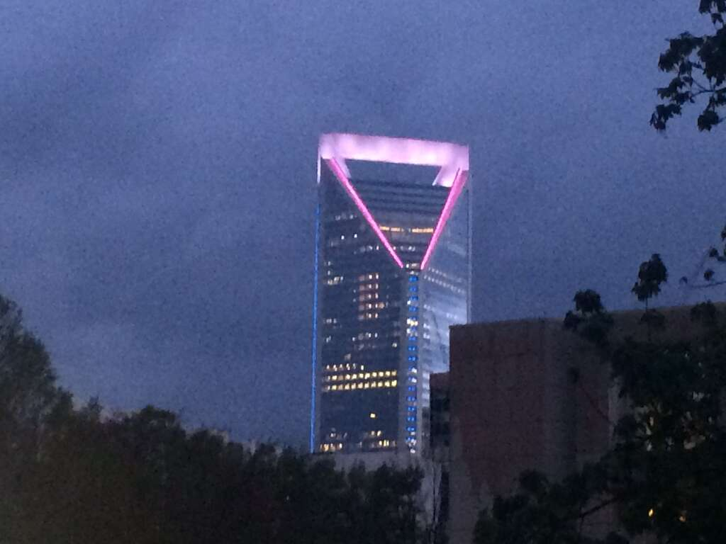wells fargo lights up north carolina tower with colors of
