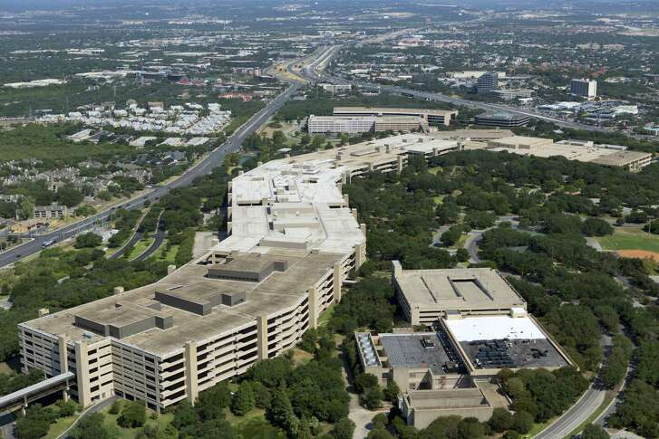 File photo of the main USAA headquarters building. The company will shutter 17 of its 21 financial centers on April 28, including two in the San Antonio area.