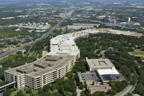 """It took five years to complete USAA's headquarters (dubbed """"the brag with backbone"""") on the Northwest Side. It opened in 1976."""