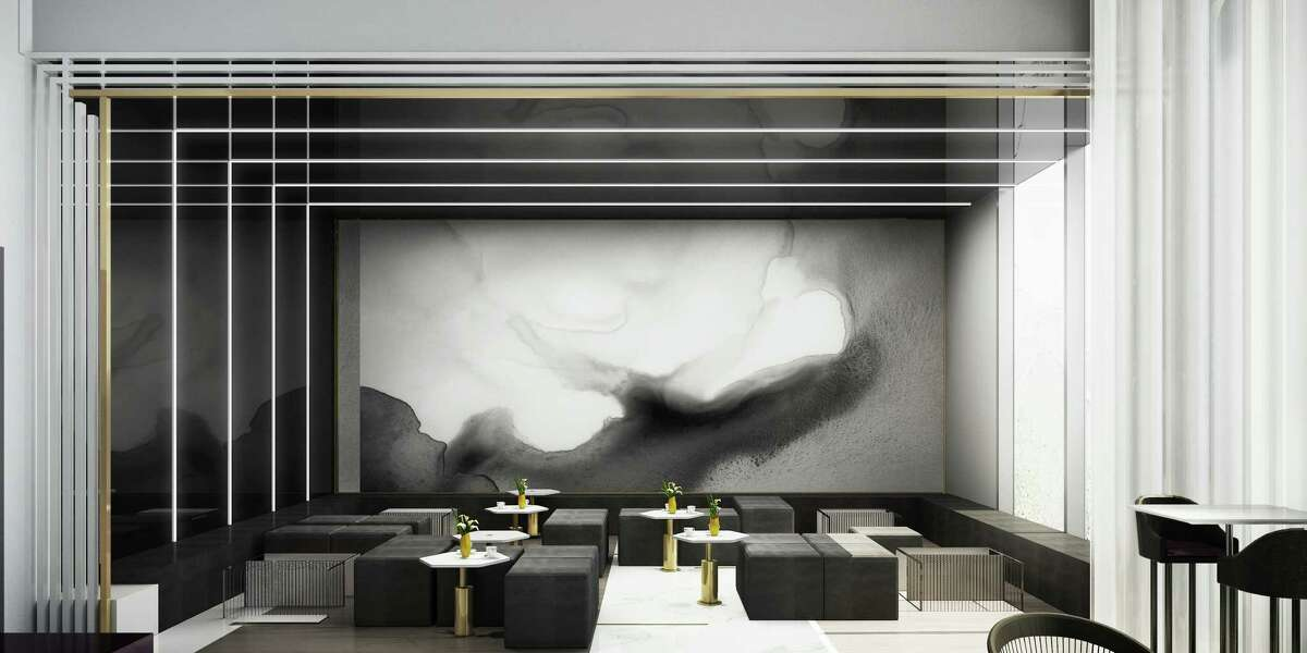 Artist rendering of a semi-private lounge in the new 51fifteen restaurant inside the new Saks Fifth Avenue, Galleria, Houston.