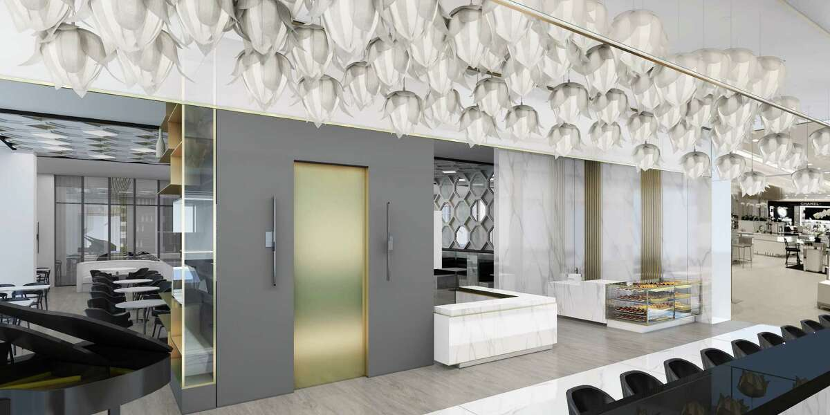 Artist rendering of the entrance to the new 51fifteen restaurant inside the new Saks Fifth Avenue, Galleria, Houston.