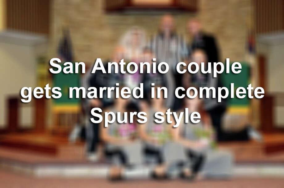 Daniel and Rachel Potter's Spurs wedding. /
