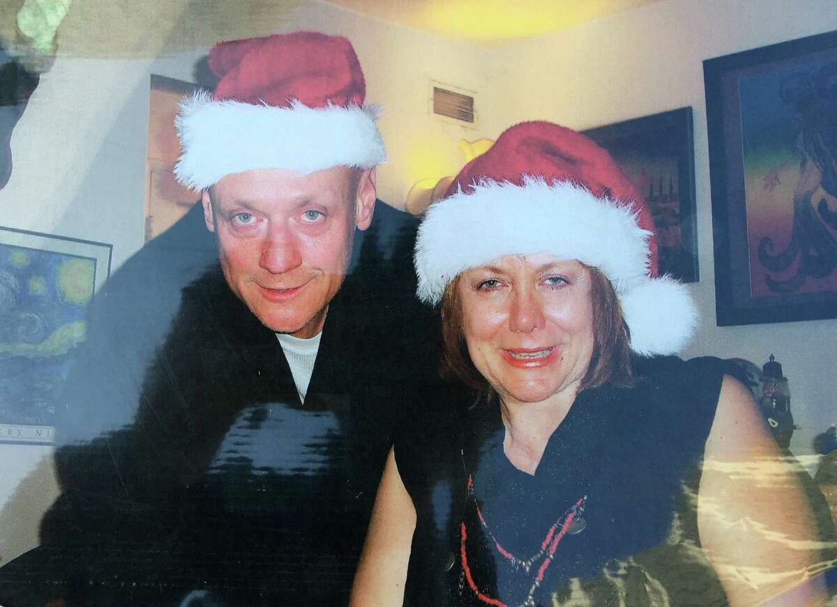 Hernan Jaramillo and his sister, Ana Biocini, pose together around the holidays. Jaramillo died after being handcuffed by police at his Oakland home in 2013.
