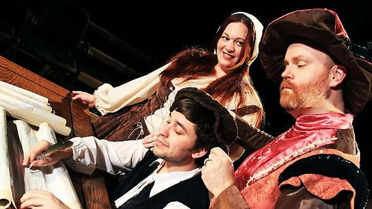 (Left to right) Caitlin Papp, Dante Belletti and Michael Champlin star in