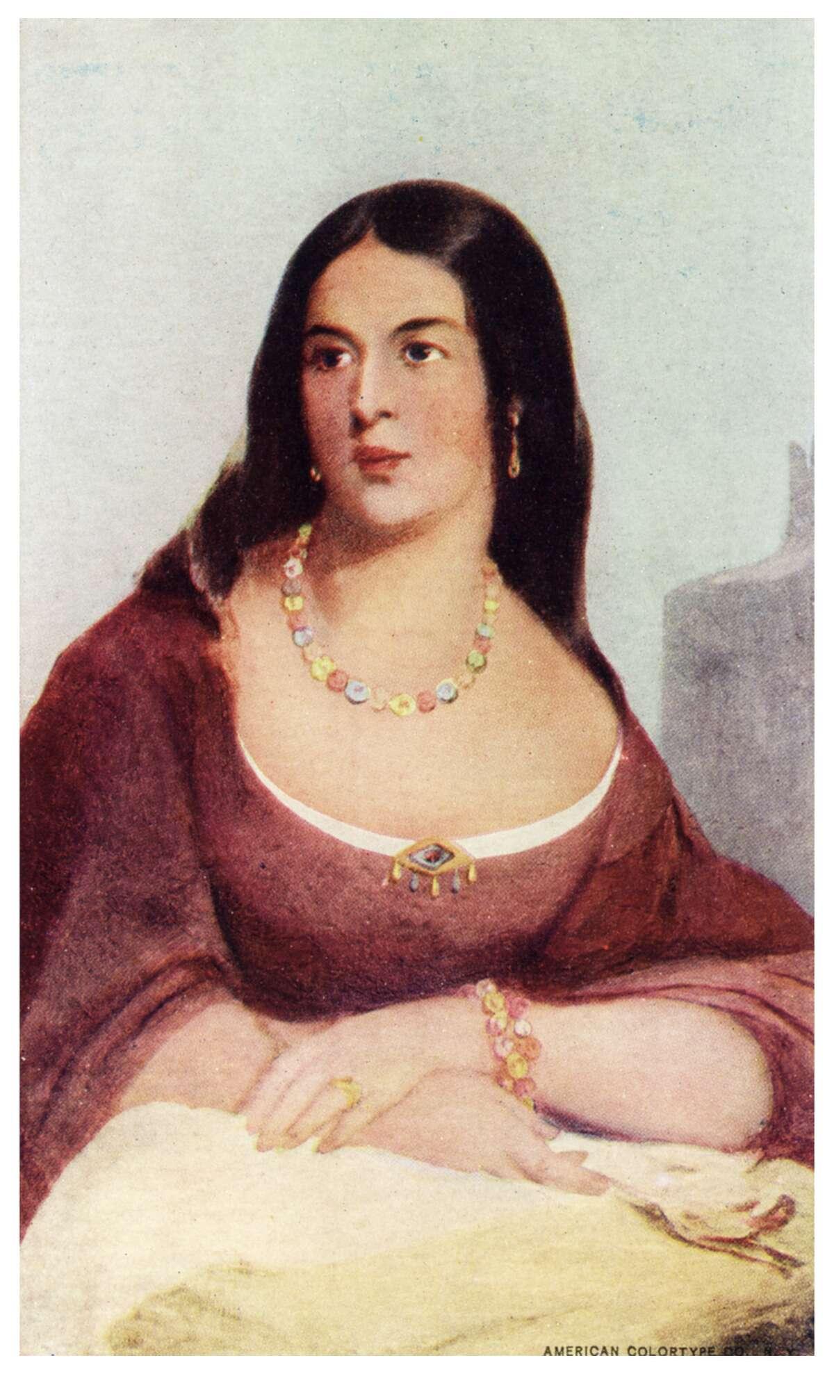 POCAHONTAS (Real life) Shown is a portrait of Matoaka, aka Pocahontas, aka Rebecca Rolfe.