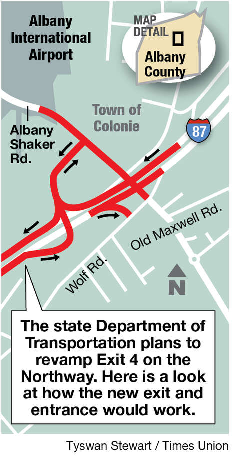 Plans to revamp Exit 4 of Northway.
