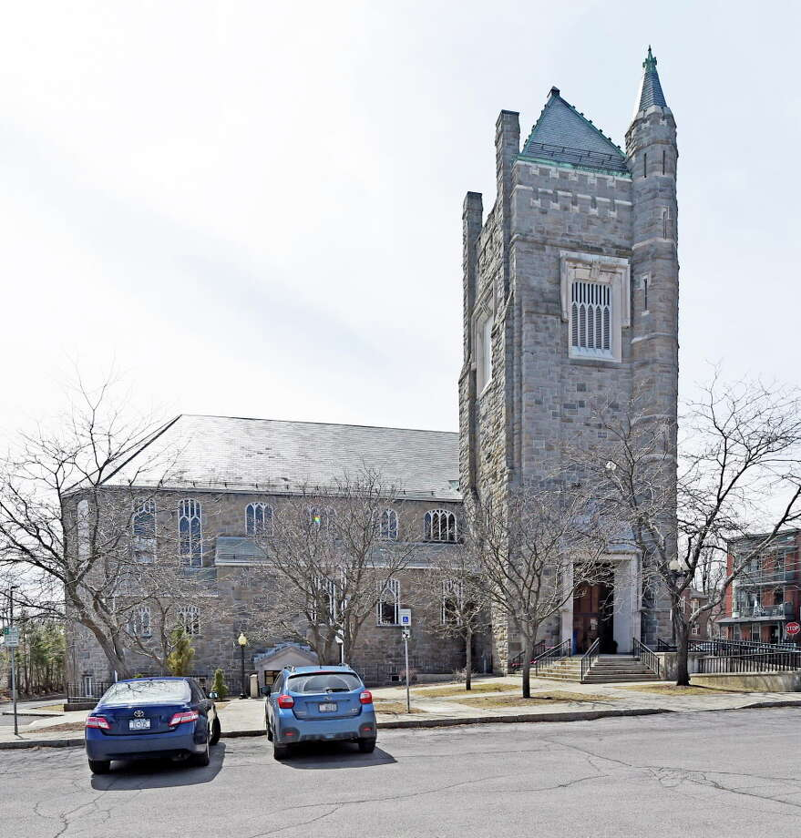 Exterior view of the Cohoes Library Tuesday morning April 14, 2015 in Cohoes, N.Y.     (Skip Dickstein/Times Union) Photo: SKIP DICKSTEIN / 00031425A