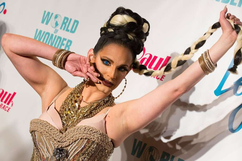 """LOS ANGELES, CA - MARCH 01:  Cynthia Lee Fontaine arrives to the premiere of Logo's """"RuPaul's Drag Race"""" Season 8 at Mayan Theater on March 1, 2016 in Los Angeles, California.  (Photo by Gabriel Olsen/FilmMagic) Photo: FilmMagic"""