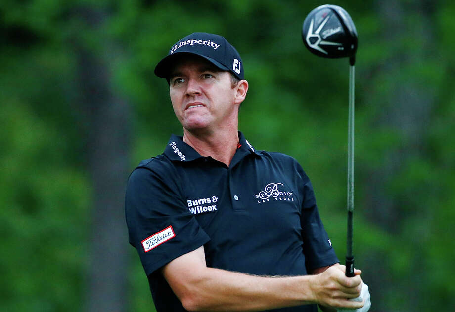 Jimmy Walker hits his tee shot on the 13th hole during the first round of the Houston Open at The Golf Club of Houston on March 31, 2016 in Humble. Photo: Scott Halleran /Getty Images / 2016 Getty Images