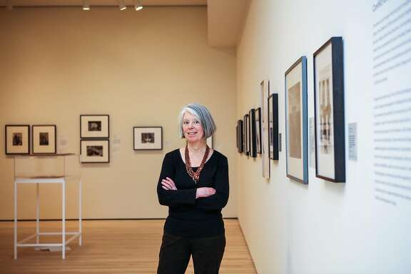 Sandra Phillips, longtime curator of photography at SFMOMA, poses for a portrait in the new photography gallery at SFMOMA, in San Francisco, California, on Monday, April 4, 2016.