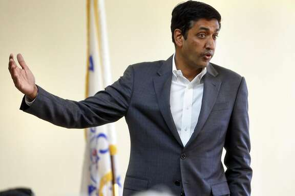 Ro Khanna, Democratic candidate for California's 17th Congressional District, during town hall meeting in Milpitas, Calif., on Monday, April 4, 2016.